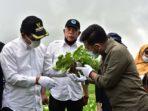Menteri Pertanian Republik Indonesia, Dr. H. Syahrul Yasin Limpo, SH,MH bersama Bupati Humbang Hasundutan, Dosmar Banjarnahor, SE.