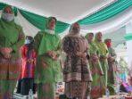 Bupati masnah saat acara pelantikan pengurus muslimat NU