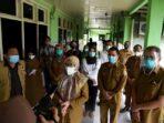 Sekretaris Daerah (Sekda) Provinsi Jambi, Sumut R Sabrina saat meninjau RS Haji Medan di Jalan Rumah Sakit Percut Sei Tuan Deli Serdang
