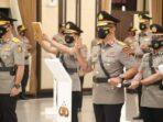 Prosesi pelantikan Kapolda Jambi Irjen Pol Albertus Rachmad Wibowo di gedung Rupatama Mabes Polri.