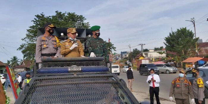 Bupati, Kapolres dan Dandim turun ke jalan imbau warga patuhi Prokes
