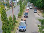 Tim Satgas Covid-19 Berkeliling Kota Bangko Ingatkan Protokol Kesehatan.