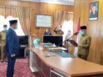 Bupati Kerinci, Adirozal melantik Asraf sebagai Pj Sekda Kabupaten Kerinci.