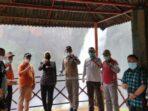 Pj Gubernur Jambi saat berada di objek wisata Air Terjun Telun Berasap