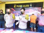 Kapolres Muaro Jambi AKBP Ardianto ekspos ungkap kasus Curanmor antar provinsi.(Foto:Raden Hasan Efendi)