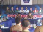 Pj. Sekda Kerinci Asraf saat rapat briefeng rutin Tim Gugus Tugas Kabupaten Kerinci.