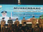 Bupati Anwar Sadat saat menghadiri Musrenbang RKPD Provinsi Jambi Tahun 2022.