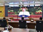 Rakor secara virtual dengan Presiden RI dan Kepala Daerah se-Indonesia.
