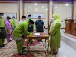Bupati Masnah lantik pejabat di lingp Setda Muaro Jambi.