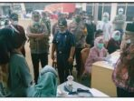 Wakil Bupati Kerinci Ami Taher dengan didampingi Sekda Kerinci Asraf memantau secara langsung jalannya Pemungutan Suara Ulang (PSU) Pilgub Jambi