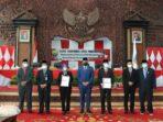 Pemprov Jambi terima LHP LKPD TA 2020 di Gedung DPRD Provinsi Jambi.