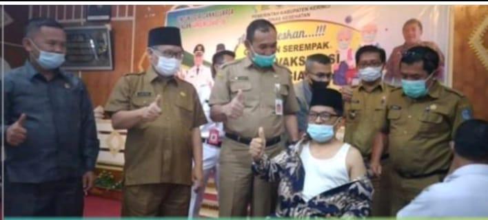 Wabup Ami Taher memantau pelaksanaan pekan vaksinasi Lansia