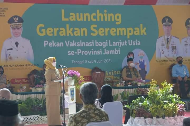 Lauching Gerakan Serempak Pekan Vaksin Lansia se-Provinsi Jambi