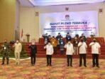 rapat pleno terbuka KPU penetapan calon gubernur dan wakil gubernur Jambi terpilih