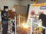 Pj Gubernur Jambi Dr. Hari Nur Cahaya Murni, M.Si tinjau pelaksanaan vaksinasi serentak secara masal di Kantor Bupati Tanjung Jabung Barat.