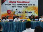 rapat koordinasi Satgas Covid-19 Kota Sungai Penuh