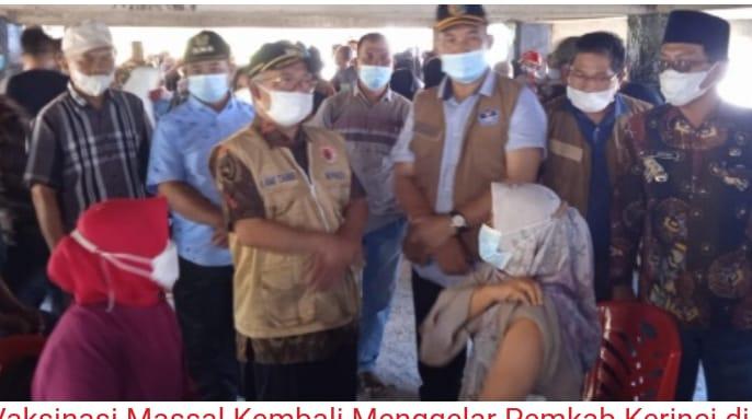 Vaksinasi di Kecamatan Air Hangat dan Kecamatan Air Hangat Barat.