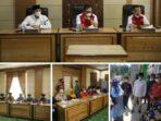 pertemuan dengan para tokoh masyarakat dan tokoh adat dari 8 Kecamatan dalam Kota Sungai Penuh