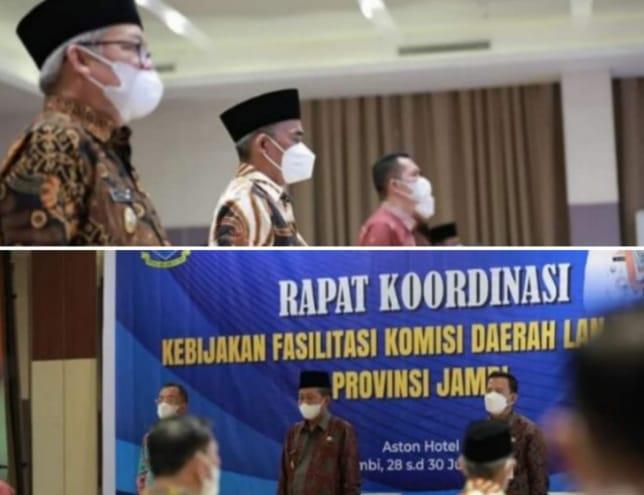 Wabup H.Ami Taher saat acara Rakor Komda Lansia se-Provinsi Jambi