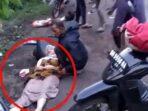 Foto kecelakaan di Jalan Jambi - Talang Duku, tepatnya di Rt. 17 Desa Muaro Kumpeh, Kecamatan Kumpeh Ulu, Kabupaten Muaro Jambi.