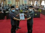 Ketua DPRD Kota Sungai Penuh H.Fajran,SP, M.Si. terima rancangan perubahan KUA-PPAS APBD tahun 2021.