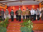 Bupati Adirozal saat menghadiri acara Rakor pencegahan korupsi bersama Ketua KPK RI.