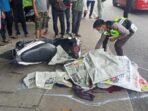 Foto kendaraan yang terlibat kecelakaan di Jalan Jambi – Bulian, Desa Mendalo Darat, Kecamatan Jambi Luar Kota, Kabupaten Muaro Jambi.